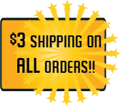 3 Dollar Shipping on All Orders